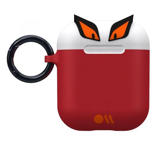 Чехол Case-Mate AirPods - CreaturePods - Edge The Bad Boy Case для футляра с возможностью беспроводной зарядки наушников AirPods 1 и 2. Цвет белый/красный.