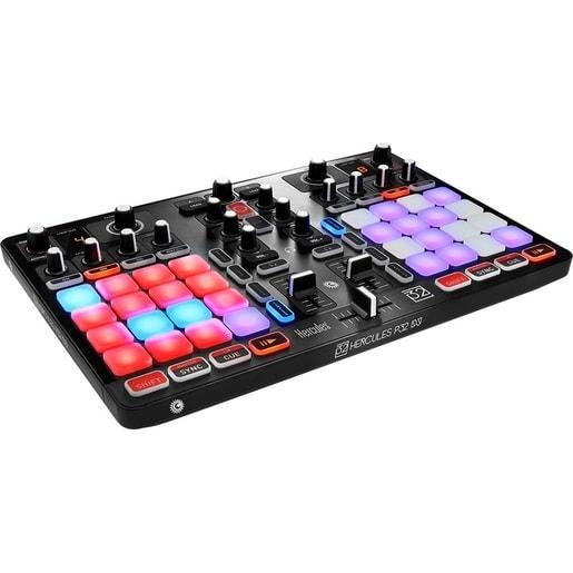 Полнофункциональный микшерный DJ пульт с двумя деками Hercules P32 DJ.