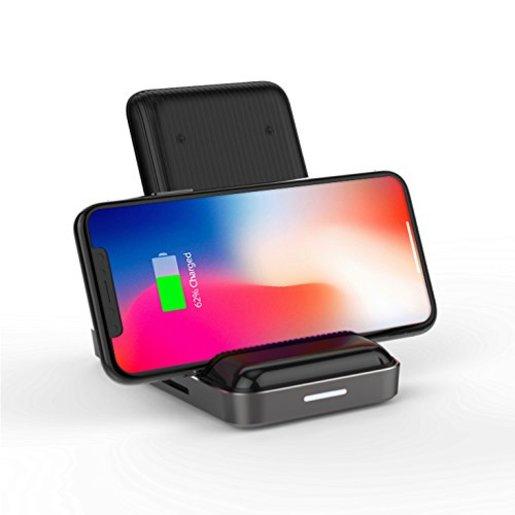 USB-хаб-док станция Hyper HyperDrive 7.5W Wireless Charger USB-C Hub 8-in-1 для Macbook и других устройств с портом Type-C. Цвет черный.