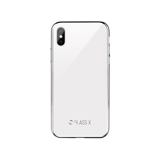 Чехол-накладка SwitchEasy Glass X для iPhone XS/X. Материал пластик, стекло, полиуретан.