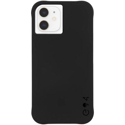 Чехол-накладка Case-Mate ECO 94 Recycled для for iPhone 12 mini, покрытый антимикробным материалом Micropel. Размер изделия: 13.7 x 7 x 1.07 см. Материалы: ТПУ. Цвет: черный.