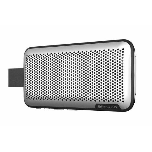 Беспроводной динамик со встроенным микрофоном Braven Brava. Цвет серебряный.