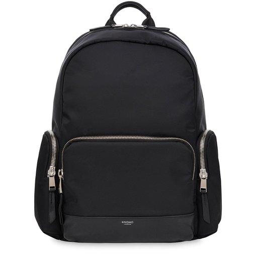 """Рюкзак Knomo Barlow для ноутбука до 15"""" дюймов. Материал нейлон, кожа натуральная. Цвет черный."""