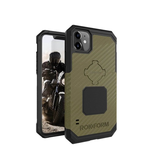 Противоударный чехол-накладка Rokform Rugged Case для iPhone 11 Pro со встроенным магнитом.. Материал: поликарбонат. Цвет: зеленый. Rokform Rugged Case for iPhone 11 Pro - Black
