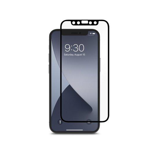 Матовое защитное антибликовое покрытие Moshi iVisor AG для iPhone 12 mini. Цвет боковых сторон - черный.