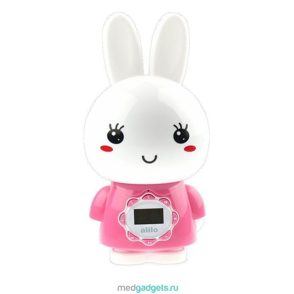 Alilo Музыкальная игрушка-ночник Большой зайка цвет розовый