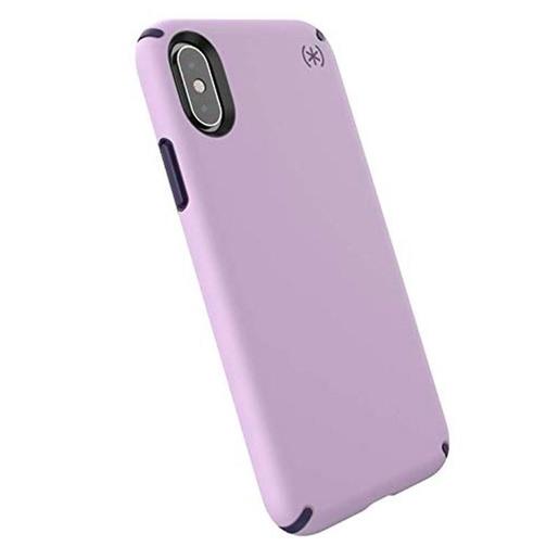 Чехол Speck Presidio Pro для iPhone XS/X. Материал пластик. Цвет фиолетовый/черный.