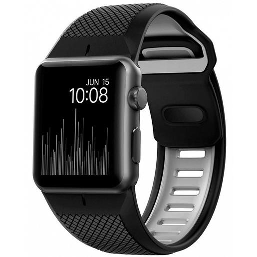 Ремешок Nomad Sport Strap для Apple Watch 44mm/42mm. Материал силикон. Цвет черный/серый.