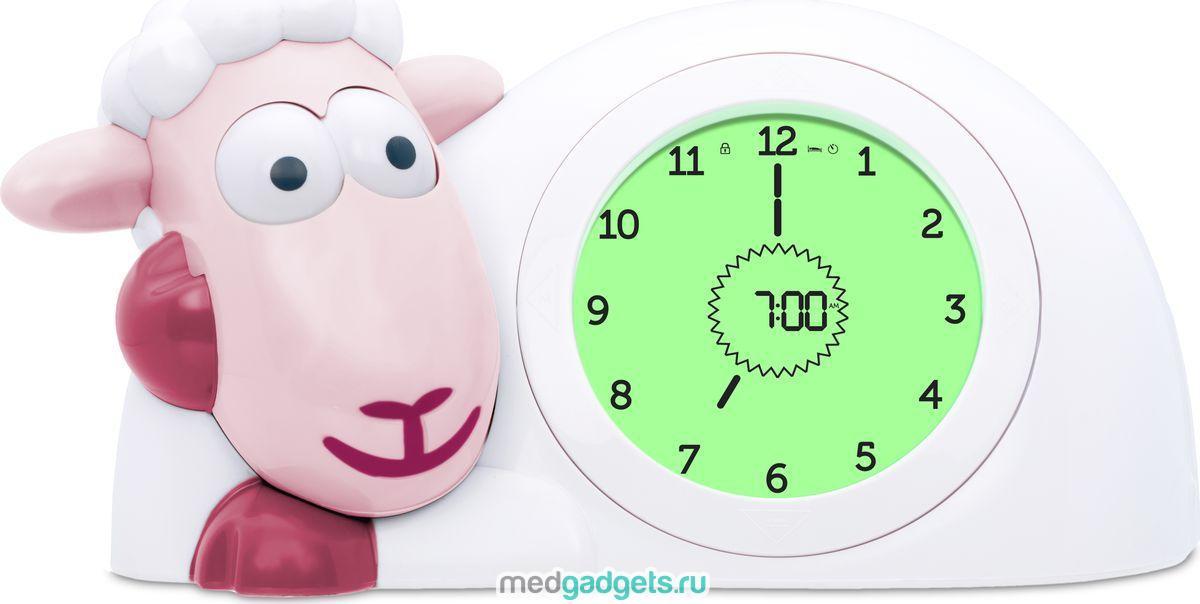 ZAZU Настольные часы детские Ягнёнок Сэм цвет розовый