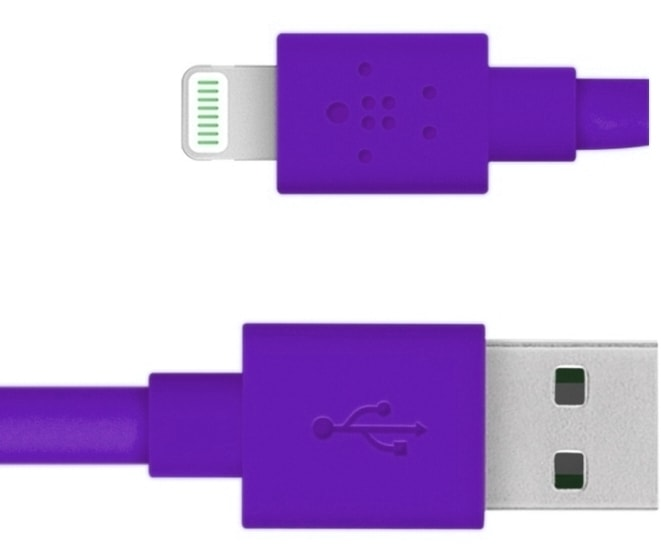 Кабель Belkin Mixit Flat Lightning to USB Cable (Purple)