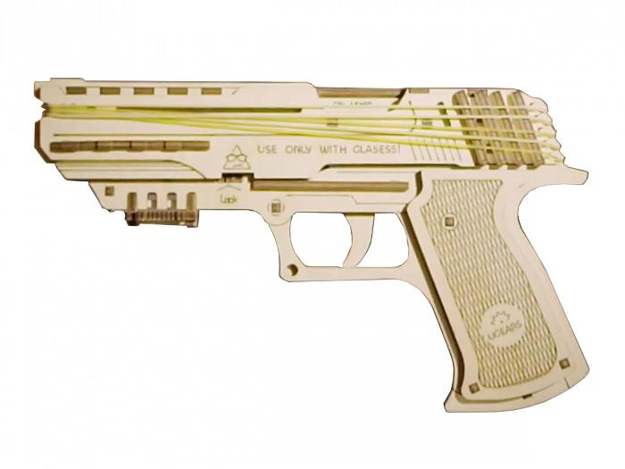 3D-пазл UGears Пистолет Вольф-1 (Wolf-01 Gun)