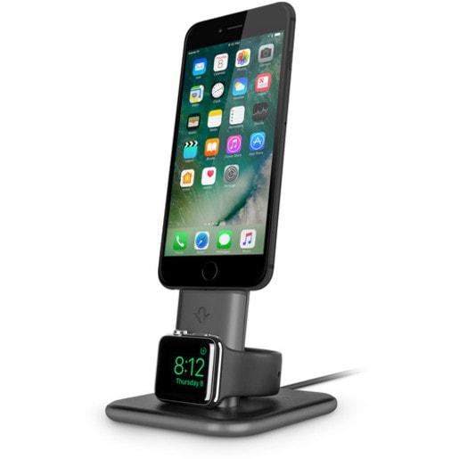 Подставка-док станция Twelve South HiRise Duet для iPhone и Apple Watch. Цвет черный/серебристый.
