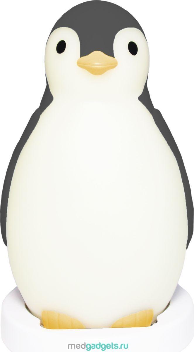 ZAZU Настольные часы детские 3 в 1 Пингвиненок Пэм цвет серый