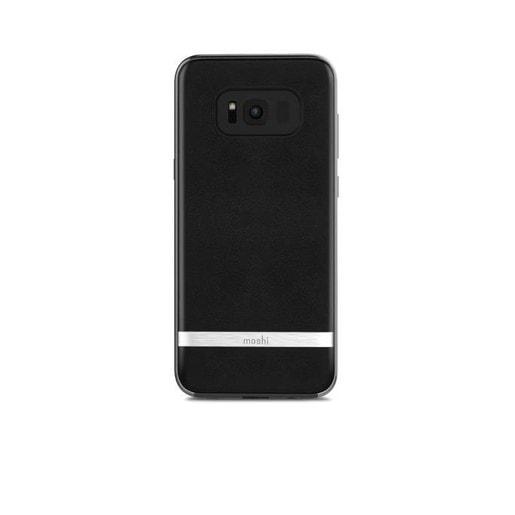 Moshi Napa для Samsung Galaxy S8. Материал пластик с отделкой из кожи. Цвет черный.