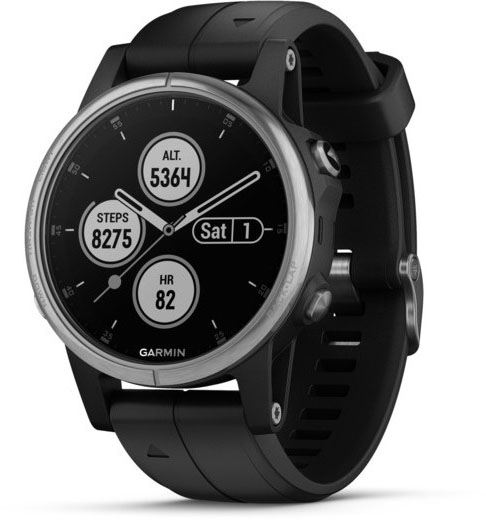Умные часы Garmin Fenix 5S Plus 010-01987-21 (Silver/Black)