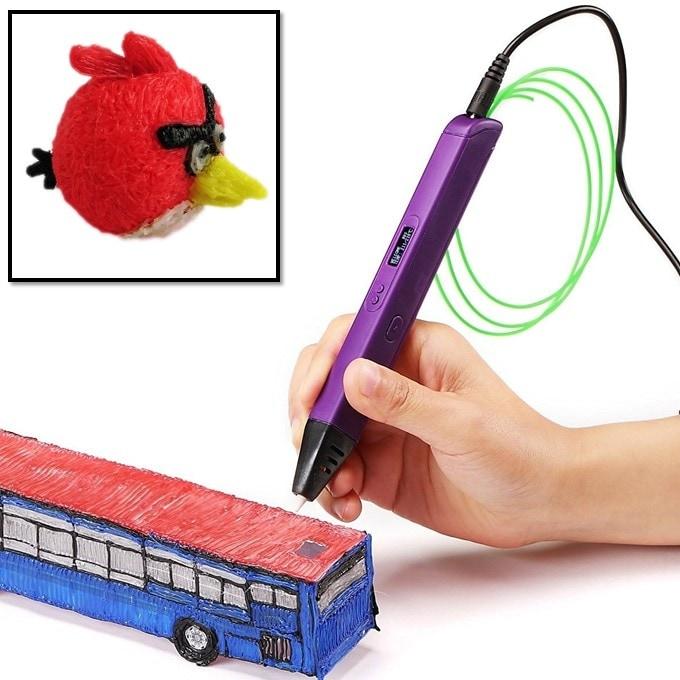 3D - Ручка c OLED экраном Jer RP800A (фиолетовый) | 3D ручки