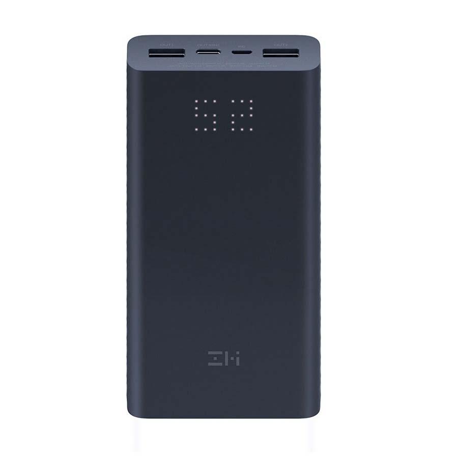Внешний аккумулятор Power Bank Xiaomi (Mi) ZMI Aura 20000 mAh Micro USB/Type-C Quick Charge 3.0, черный