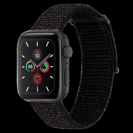 Ремешок Case-Mate для Apple Watch 42-44 мм 1, 2, 3, 4, 5 серии. Цвет металлический черный.