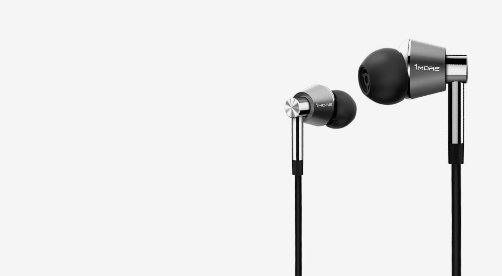 Стерео-наушники 1MORE E1001L Triple Driver LTNG In-Ear Headphones(w) (1MEJE0035) Silver/Black