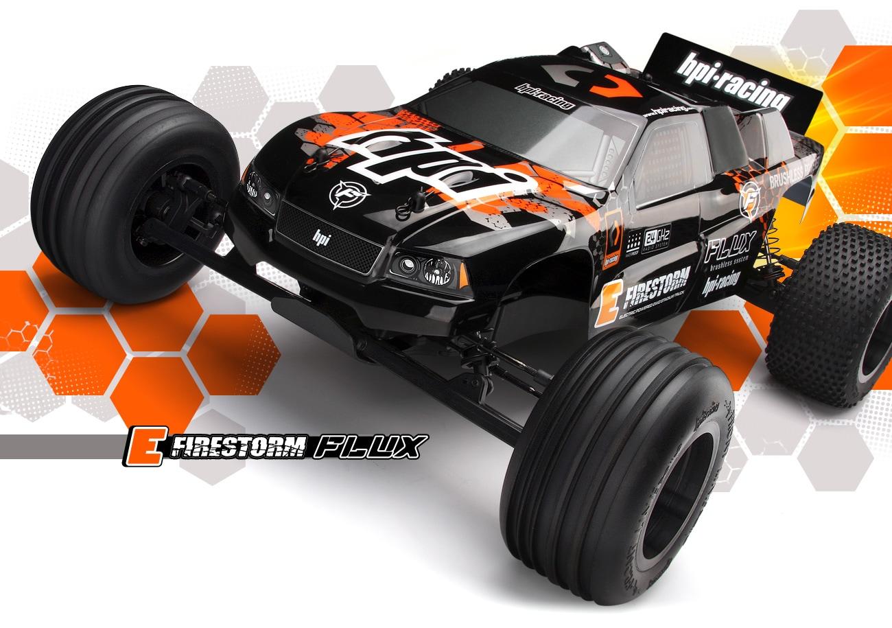 HPI Racing Радиоуправляемая машина Трак 1/10 2wd - RTR E-FIRESTORM 10T FLUX (Влагозащита)