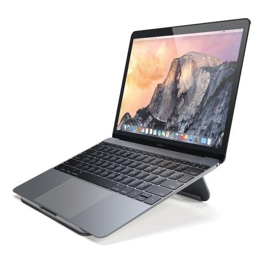 Подставка Satechi Aluminum Portable & Adjustable Laptop Stand для ноутбуков Apple MacBook. Материал алюминий. Цвет серый космос.