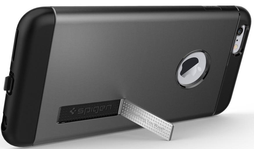 Spigen Slim Armor Volt (SGP11566) - чехол для беспроводной зарядки для Apple iPhone 6 Plus/6S Plus (GunMetal)
