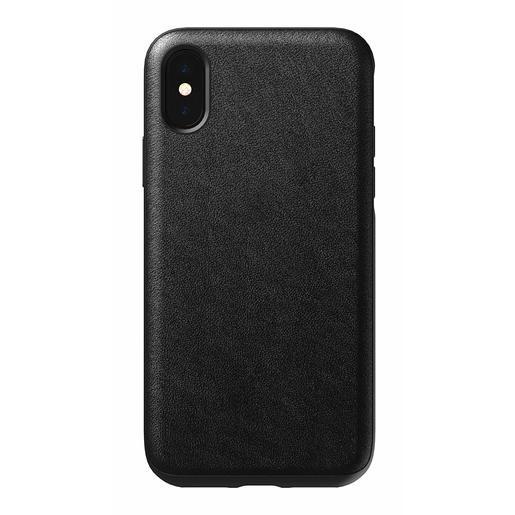 Чехол Nomad Rugged Leather Case для iPhone XS. Материал кожа натуральная. Цвет черный.