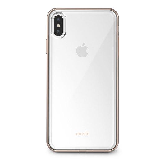 Чехол Moshi Vitros для iPhone XS Max. Материал пластик. Цвет прозрачный золотой.