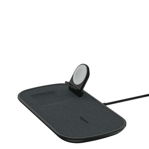 Беспроводное зарядное устройство Mophie 3-in-1 Wireless Charging Pad. Цвет черный.
