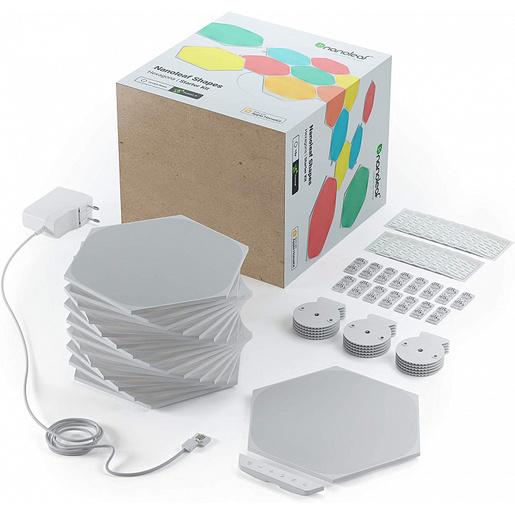 Светодиодный светильник Nanoleaf Shapes Hexagon Starter Kits. Состоит из 15 независимых светодиодных панелей.