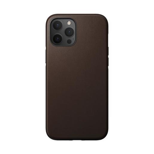 """Чехол Nomad Rugged Case для iPhone 12 Pro Max (6.7""""). Материал верха: кожа натуральная. Цвет светло-коричневый."""