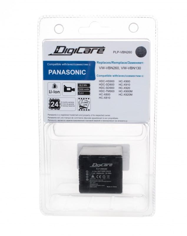DigiCare PLP-VBN260 / VW-VBN260 (7.2V 2500mAh, Li-ion) для HDC-SD800, HC-X900, X900M, X800