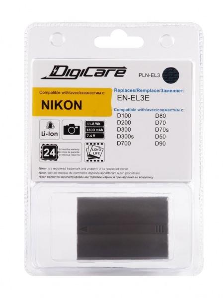 DigiCare PLN-EL3 / EN-EL3e для D90, D700, D300S, D300, D200, D80, D50
