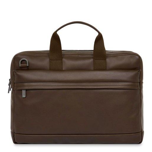 """Сумка Knomo Roscoe для ноутбука до 15.6"""". Материал кожа натуральная. Цвет коричневый."""