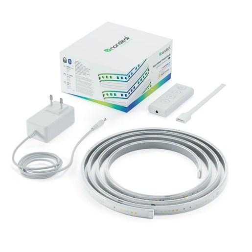 Стартовый набор Nanoleaf Essentials Lightstrip Smarter Kit из ленты Длина ленты: 2 м. Световой поток: 160 лм. Мощность: 30Вт. Световая температура: 2700K-6500K. Питание от сети: 120В-240В.
