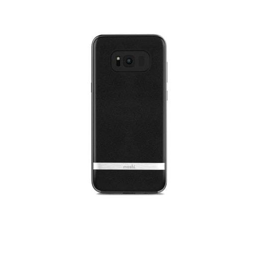 Moshi Napa для Samsung Galaxy S8+. Материал пластик с отделкой из кожи. Цвет черный.