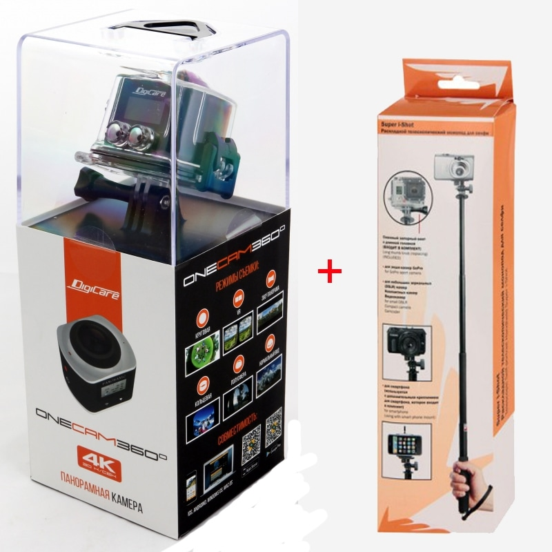 Комплект экшн камера DIgicare OneCam 360 и Super i-Shot монопод для экшн камер O - type