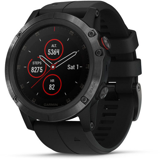 Умные часы Garmin Fenix 5X Plus 010-01989-11 (Black)