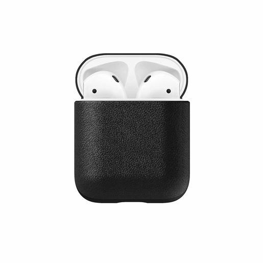Чехол Nomad Rugged Case для наушников Apple Airpods. Материал кожа натуральная. Цвет черный.