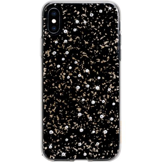 Чехол Bling My Thing для iPhone XS/X, с кристаллами Swarovski. Материал пластик. Коллекция Milky Way. Дизайн Pure Brilliance. Цвет черный.