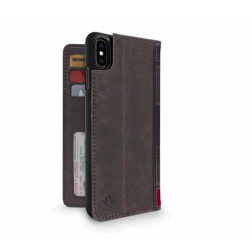 Чехол-книжка Twelve South BookBook для iPhone XS Max. Материал натуральная кожа. Цвет коричневый.