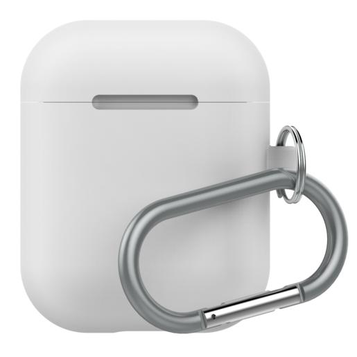 Чехол LAB.C AirPods Capsule 2in1 для зарядного устройства наушников Apple Airpods. Материал силикон. Цвет белый.