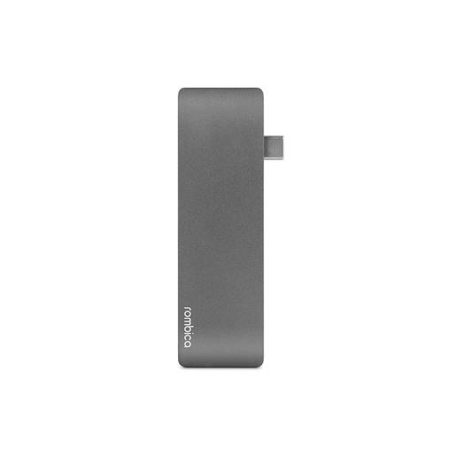 Сетевой USB адаптер/концентратор 5 в 1 Rombica Type-C M2. Интерфейс Type-C. Порты 2 x USB-A 3.0, 1 x Type-C PD, 1 x SDXC, 1 x microSDXC. Цвет серый.