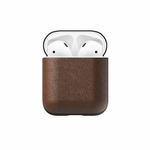 Чехол Nomad Rugged Case для наушников Apple Airpods. Материал кожа натуральная. Цвет темно-коричневый.