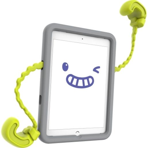 """Детский чехол Speck Case-E для iPad 9,7"""" Pro/Air. Крепление для автомобильного кресла. Материал пластик. Цвет серый/салатовый."""