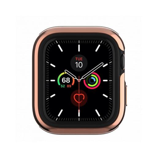 """Бампер SwitchEasy Odyssey для Apple Watch 5 и 4 44mm"""". Цвет розовый золотой."""