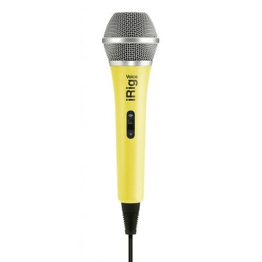 IK Multimedia iRig Voice портативный микрофон для совместного использования со смартфонами и планшетами. Цвет желтый.