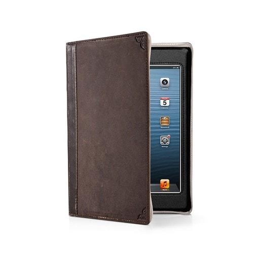 Чехол-книга Twelve South BookBook в твердом переплете для iPad mini 4, материал кожа, цвет: коричневый.