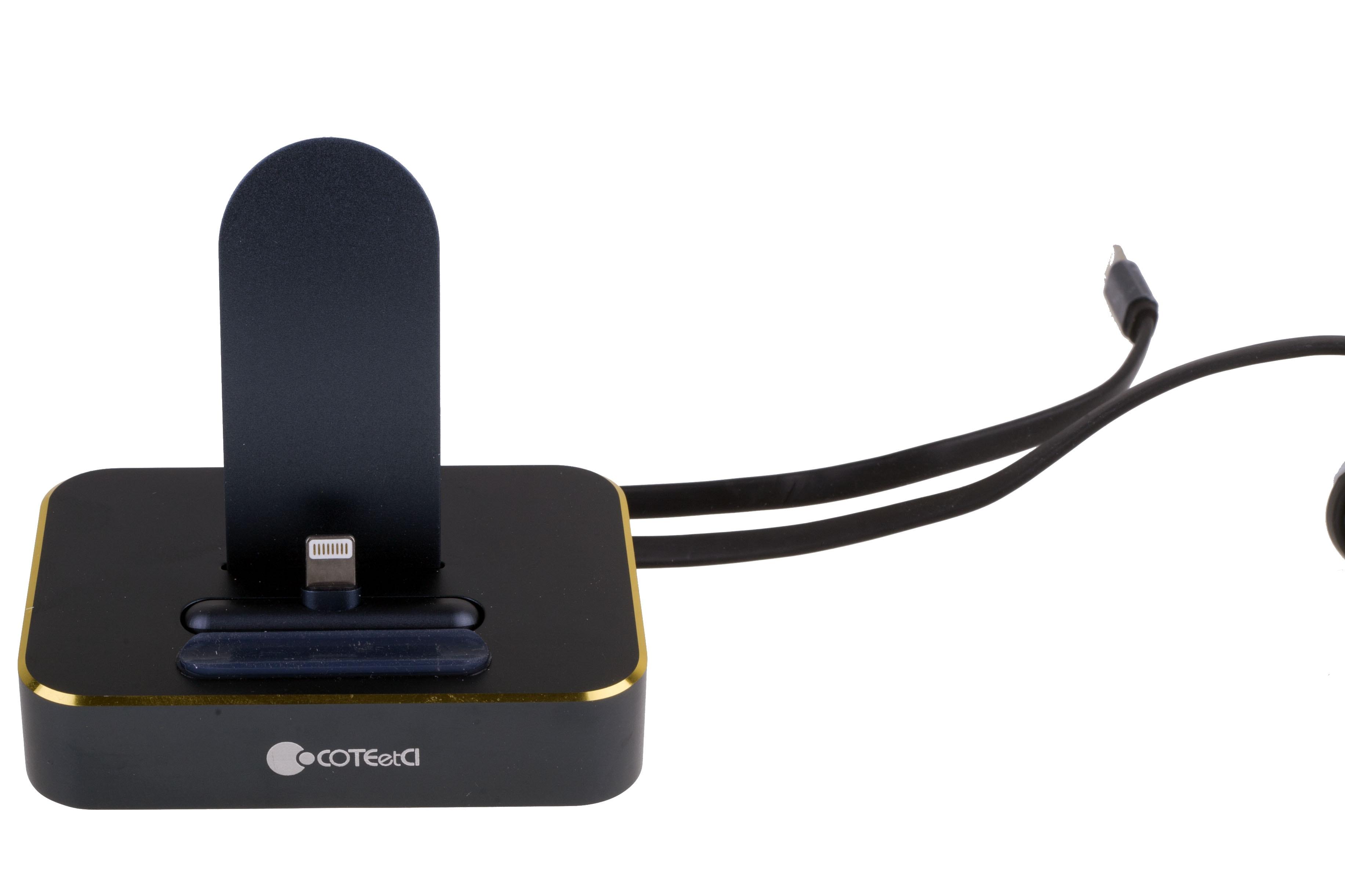 COTEetCI Base6 2-Lightning stand - док-станция для iPhone (Blue)