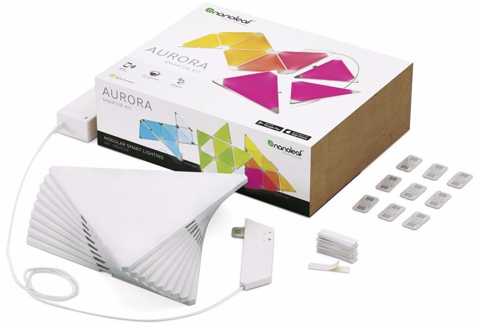 Nanoleaf Aurora Smarter Kit (9 Panels) - комплект умных ламп (White)